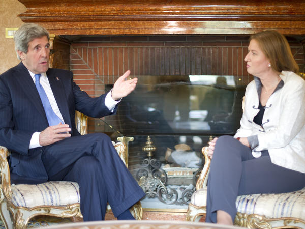 Israeli Justice Minister Tzipi Livni during a meeting with Secretary of State John Kerry at the U.S. Ambassador's residence in Rome in May.
