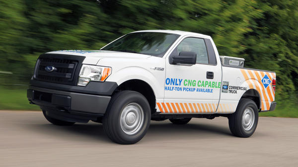 A version of Ford's flagship F-150 pickup truck that runs on natural gas.