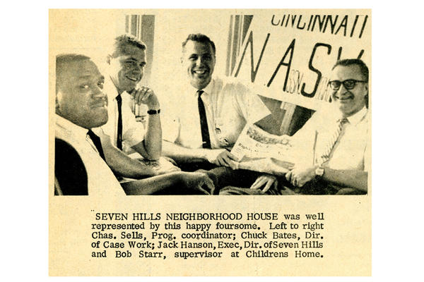 A newspaper clipping from <em>The Cincinnati Herald</em> on Sept. 14, 1963, included a picture of Jack Hansan and other members of the Cincinnati delegation.