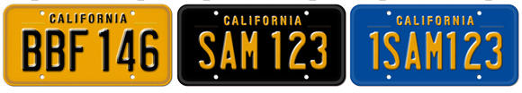 "An image from the California DMV website shows its ""vintage"" plate designs. More than 4,000 orders have come in for black tags similar to those in the 1960s."