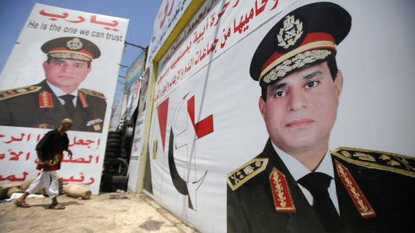 Downtown Cairo is plastered with huge posters of Gen. Abdel-Fattah el-Sissi, the U.S.-trained Egyptian army chief who helped overthrow President Mohammed Morsi.