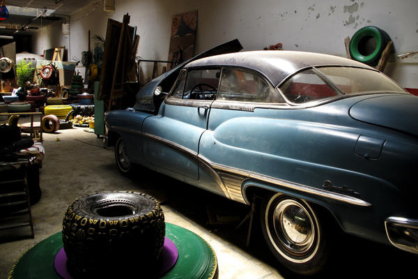 The car that started Pierson's love affair with antique vehicles: his grandfather's 1950 Buick.
