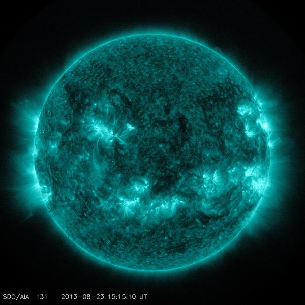 This channel is designed to study solar flares. It measures extremely hot temperatures around 18 million degrees Fahrenheit, as well as cool plasmas around 720,000 degrees Fahrenheit.