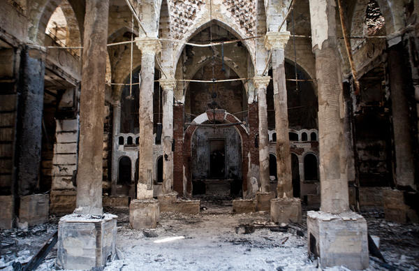 The Amir Tadros Coptic Church in Minya, Egypt, was set ablaze on Aug. 14.