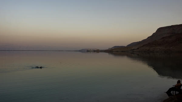 An Israeli man bathes in the Dead Sea. Spas have long touted the health benefits of the Dead Sea. So does Naked Sea Salt.