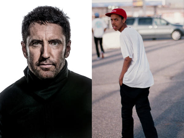 Trent Reznor (left) of the industrial rock band Nine Inch Nails, which puts its seventh album, <em>Hesitation Marks</em>, out next Tuesday. Rapper Earl Sweatshirt (right) released his major label debut on Tuesday.