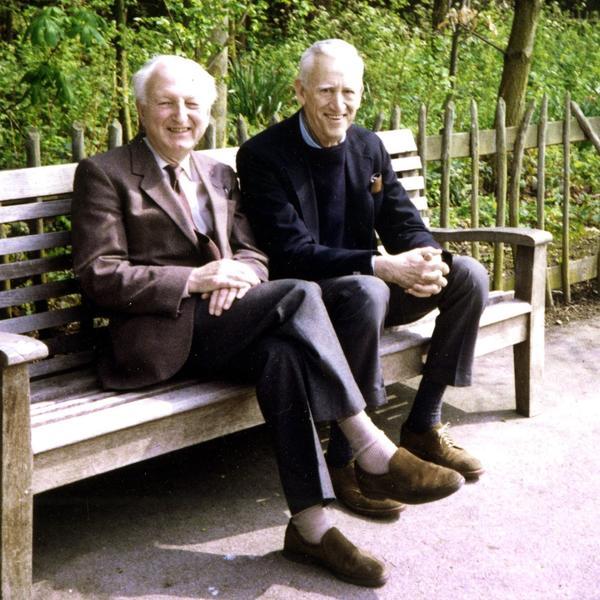 Salinger, seen here at right with his friend Donald Hartog in 1989, was sorry he ever wrote <em>Catcher</em><em>, </em>says <em>Salinger</em> co-author Shane Salerno.