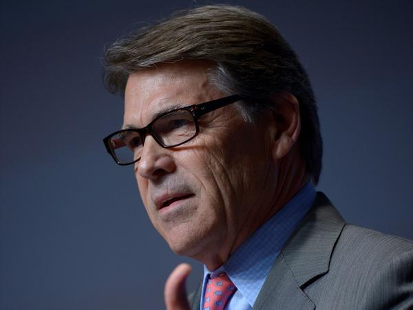 Texas Gov. Rick Perry, pictured last month in Orlando, Fla., has said the Texas National Guard must follow state law despite a Department of Defense policy directive on same-sex marriage benefits.