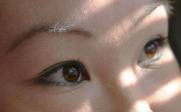 "Here's a close-up stock photo that had, no joke, the description: ""The almond eyes of an Asian girl."""
