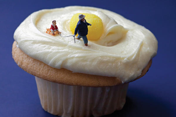 "<em>Lemon Cupcake Sledding</em>: ""It seemed an opportune time to school little Danny on the pitfalls of eating yellow snow."""
