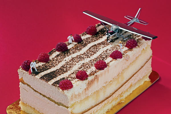 "<em>Tiramisu Takeoff</em>: ""Soft runways made landings a pleasure, but takeoffs risky."""