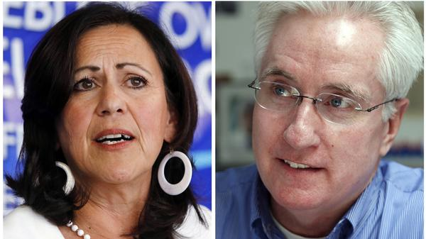 State Sens. Angela Giron and John Morse, both Democrats, face recall elections Tuesday. The battle in Colorado has attracted major players from across the nation, reflecting the sustained intensity over the issue of gun rights.