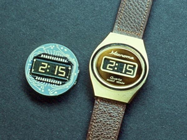 The Microma watch was the first watch with a liquid crystal display, but the limited technology of the time prevented Intel from achieving much else with it.