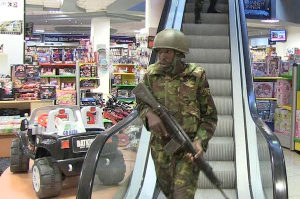 The Kenyan military remained in a tense standoff with Islamic extremists Sunday, as the toll rose to 59 dead, including children, and 175 wounded in the attack at an upscale mall, a Kenyan minister said.