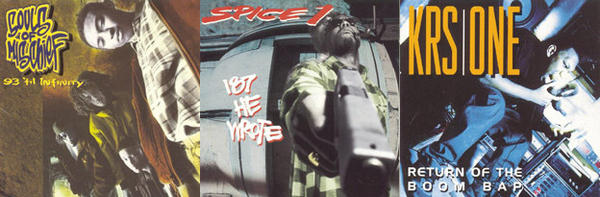 On September 28, 1993, three very different albums, Souls of Mischief's <em>93 'Til Infinity</em>, Spice 1's <em>187 He Wrote</em> and KRS-One's <em>Return of the Boom Bap</em>.