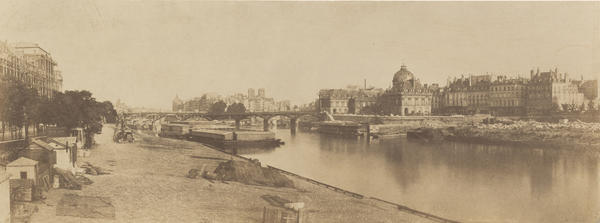 "This 1854 Marville print shows a new wing of the Louvre being built (left), and the Seine before it underwent its own transformation. <a href=""http://media.npr.org/assets/img/2013/09/25/3209-002_custom.jpg"">Click here to enlarge</a>."