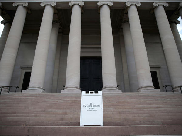 The National Gallery of Art is among the popular sites that are turning visitors away.