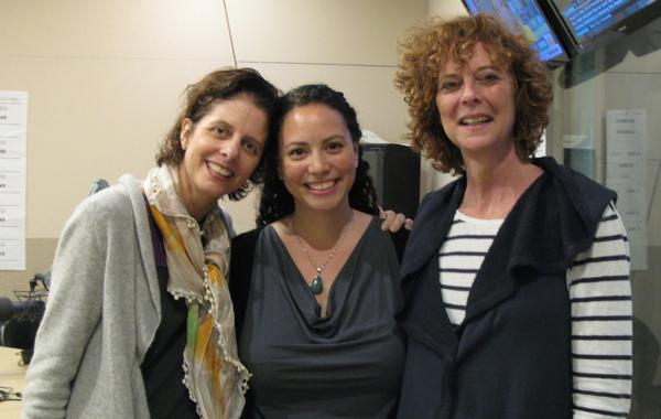 Vicci Recckio, Anne-Marie Chang and Elaine Ducharme are pictured at the Here & Now studios. (Here & Now)