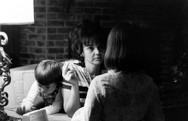 Astronaut James Lovell's family at home during the Apollo 13 crisis, April 1970.
