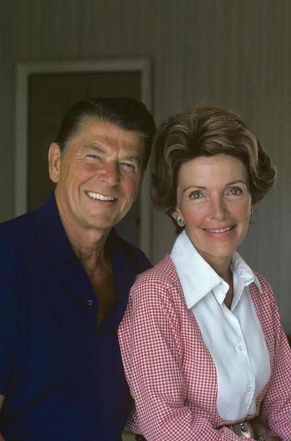 Gov. Ronald Reagan and wife Nancy Reagan in California, August 1974.