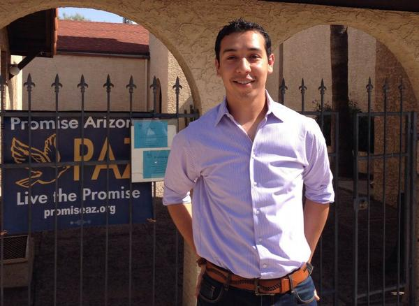"Otoniel ""Tony"" Navarette, an immigration activist with Promise Arizona. (Jeremy Hobson/Here & Now)"