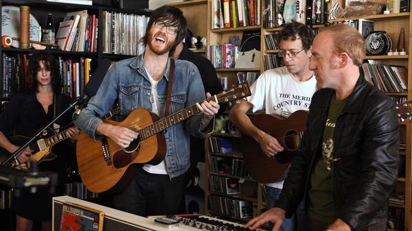Okkervil River performs a Tiny Desk Concert in September 2013.