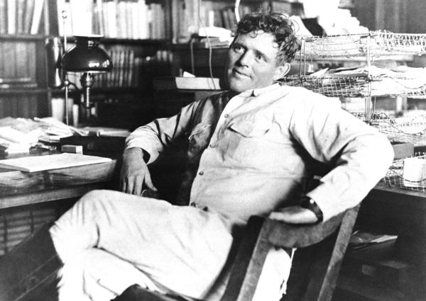 Jack London's 1903 <em>The Call of the Wild</em> was a sensation — it sold one million copies and made London the most popular American writer of his generation. He's shown above in 1916, shortly before his death at age 40.