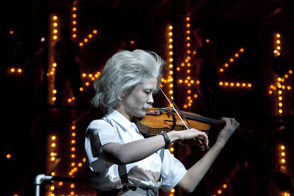 Violinist Jennifer Koh as Einstein.
