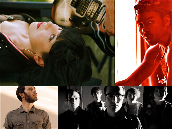 Clockwise from upper left: Sleigh Bells, Blood Orange, Mind Spiders, James Vincent McMorrow