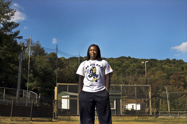 Antonio Bolden, a 19-year-old student and baseball player, is a rarity at Bluefield State: He started college right after high school and isn't from the region.