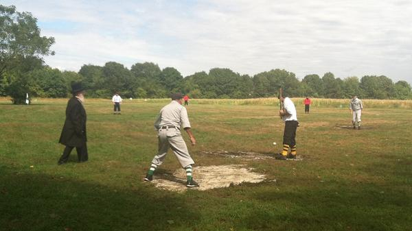 The Essex Base Ball Organization, a vintage baseball league, holds its games on a farm in Newburyport, Mass.