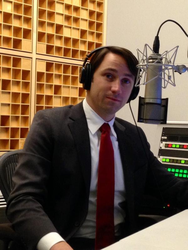Army Capt. William Swenson at NPR studios in Washington, DC. (Ben Watson/NPR)