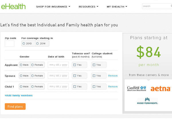 Independent online insurance brokers, like eHealth, haven't yet been able to sell subsidized health insurance policies.