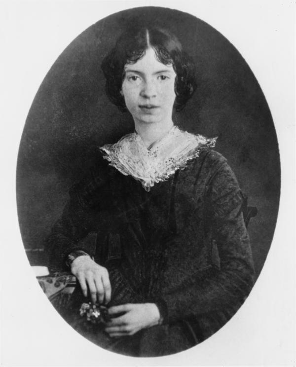 American poet Emily Dickinson, circa 1850.