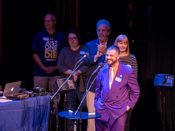 Contestants gather for a tense final round at the Fitzgerald Theater in St. Paul, Minn.