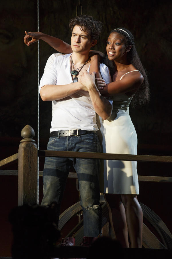 Condola Rashad stars opposite Orlando Bloom in the new Broadway production of <em>Romeo & Juliet. </em>