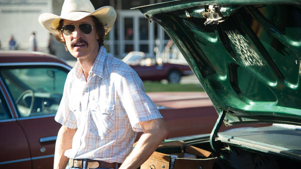 In <em>Dallas Buyers Club,</em> Matthew McConaughey takes on the role of Ron Woodroof, a Texas man who, diagnosed with AIDS in the 1980s, begins to smuggle experimental drugs in from Mexico.
