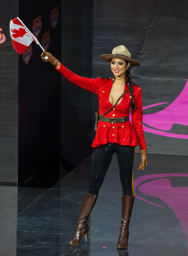 """Canada is out of ideas. Canada forfeits."" (Miss Canada: Riza Santos)"