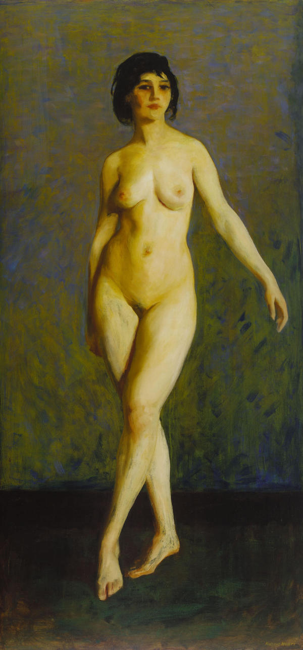 Robert Henri's 1913 <em>Figure in Motion</em> was a realistic, but bold response to Matisse's and Duchamp's nudes.