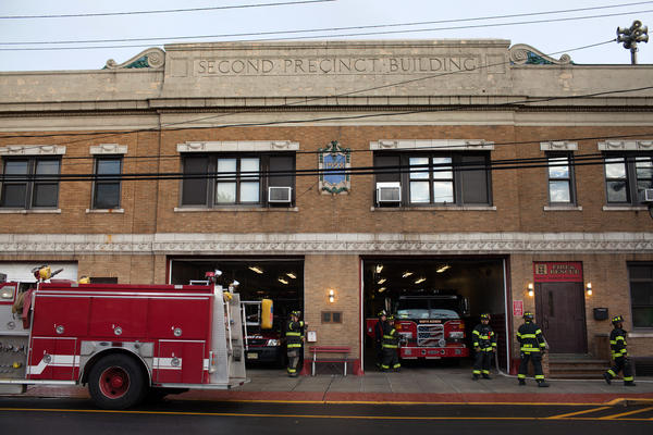 "A view of the exterior of the station. Battalion Chief Richard Hess says many of the vets really needed the job. ""Some of them were having difficulty having jobs just like everybody else in this economy,"" he says. ""Some of them had ... started working in careers that really weren't up to the expectation they had for ... what they want to do with their life."""