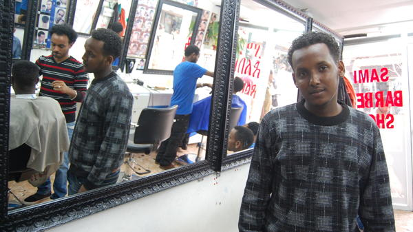 Philip Giray came from Eritrea to Israel two years ago. He is one of some 60,000 migrants living in Israel.