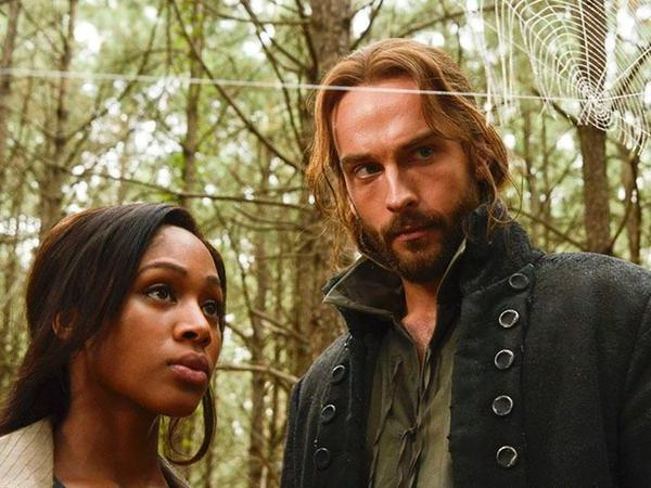 Nicole Beharie and Tom Mison play Abbie Mills and Ichabod Crane in Fox's new show <em>Sleepy Hollow.</em>