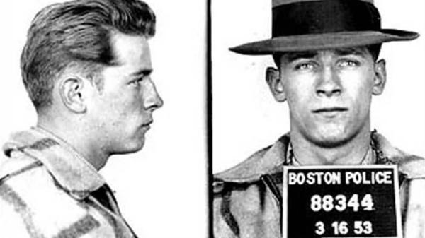 "A 1953 mug shot of James ""Whitey"" Bulger."
