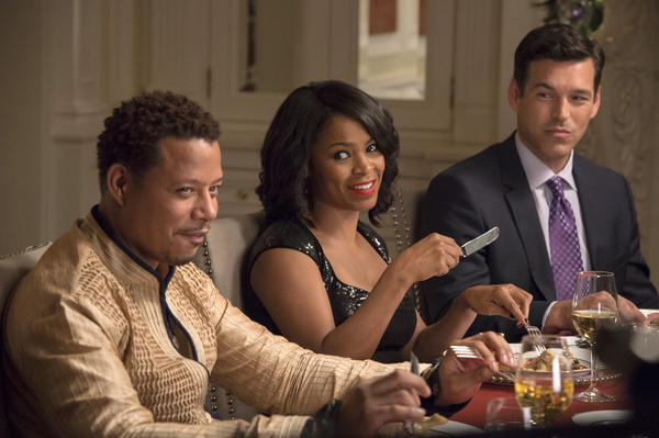 Terrence Howard, Nia Long and Eddie Cibrian in <em>The Best Man Holiday.</em>