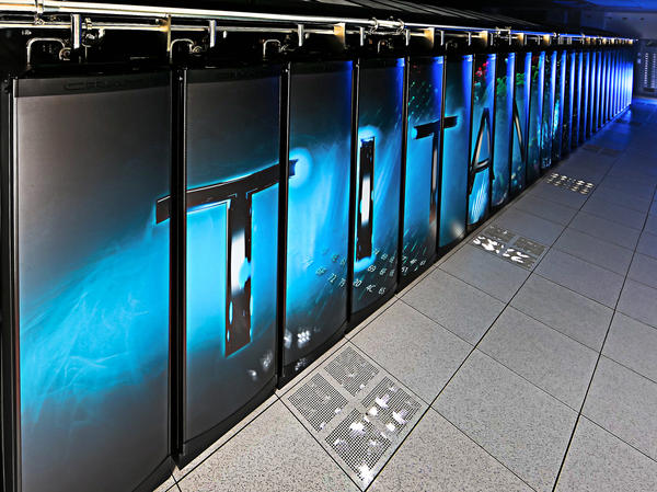 The Cray-built Titan, at Oak Ridge National Laboratories, comes in second.