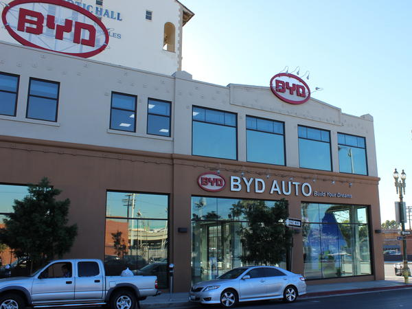 BYD's North American headquarters is located in Los Angeles. Next year, the Chinese-based auto manufacturer will roll out electric buses in LA and Long Beach.