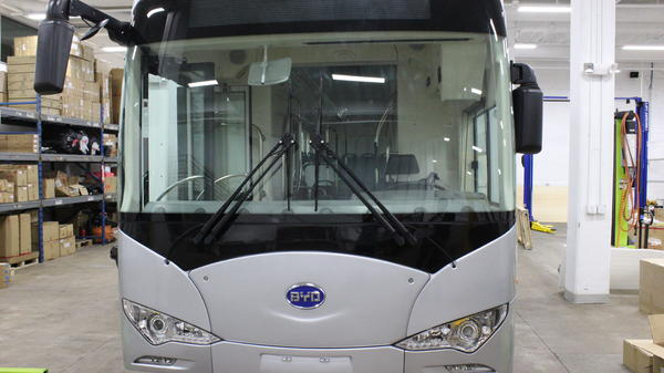 BYD's K9 electric bus can run for 155 miles on a single charge.