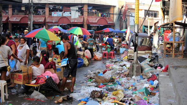 In the past week, this street market in Tacloban has grown exponentially as people try to earn money to rebuild their lives.