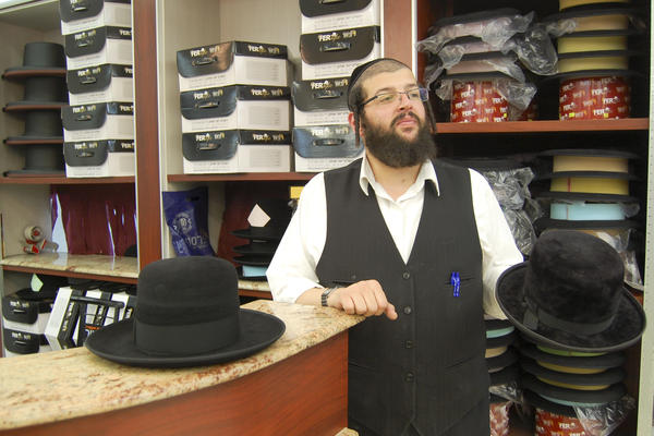 A salesman at Ferster Quality Hats in the ultra-Orthodox Jewish neighborhood Mea Shearim suggests rabbit felt hats made in Hungary for around $200. Twice the price of made-in-China, but he says they last much longer.