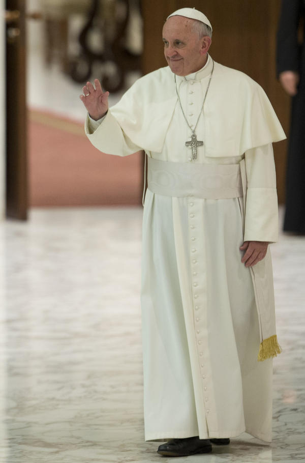 Pope Francis on Saturday at the Vatican.